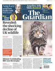 The Guardian (UK) Newspaper Front Page for 4 October 2019