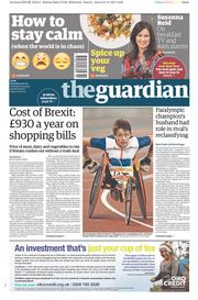 The Guardian (UK) Newspaper Front Page for 4 November 2017