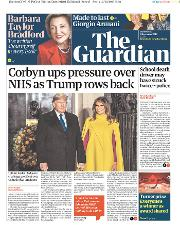 The Guardian (UK) Newspaper Front Page for 4 December 2019