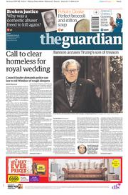 The Guardian (UK) Newspaper Front Page for 4 January 2018