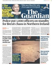 The Guardian (UK) Newspaper Front Page for 4 January 2019