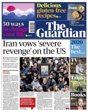 The Guardian (UK) Newspaper Front Page for 4 January 2020