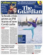 The Guardian front page for 4 January 2021