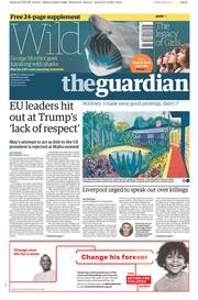 The Guardian (UK) Newspaper Front Page for 4 February 2017
