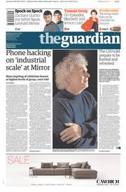The Guardian (UK) Newspaper Front Page for 4 March 2015