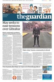The Guardian (UK) Newspaper Front Page for 4 April 2017