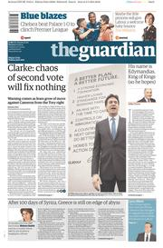The Guardian (UK) Newspaper Front Page for 4 May 2015