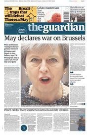 The Guardian (UK) Newspaper Front Page for 4 May 2017