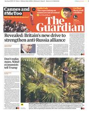The Guardian (UK) Newspaper Front Page for 4 May 2018