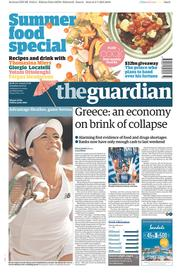 The Guardian (UK) Newspaper Front Page for 4 July 2015
