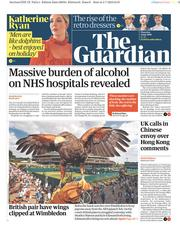 The Guardian (UK) Newspaper Front Page for 4 July 2019