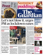 The Guardian (UK) Newspaper Front Page for 4 July 2020