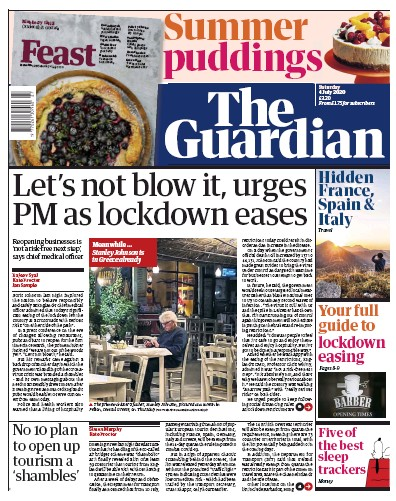 The Guardian Newspaper Front Page (UK) for 4 July 2020