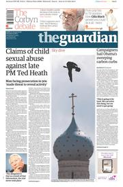 The Guardian (UK) Newspaper Front Page for 4 August 2015