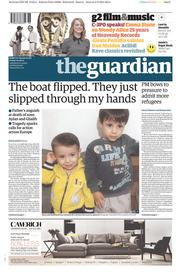 The Guardian (UK) Newspaper Front Page for 4 September 2015