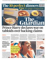The Guardian (UK) Newspaper Front Page for 5 October 2019