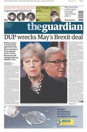 The Guardian (UK) Newspaper Front Page for 5 December 2017
