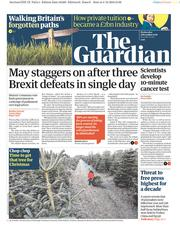The Guardian (UK) Newspaper Front Page for 5 December 2018