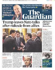 The Guardian (UK) Newspaper Front Page for 5 December 2019