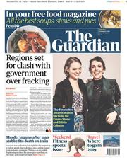 The Guardian (UK) Newspaper Front Page for 5 January 2019