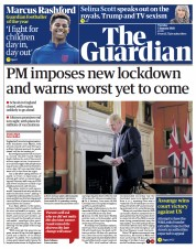 The Guardian (UK) Newspaper Front Page for 5 January 2021
