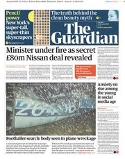 The Guardian (UK) Newspaper Front Page for 5 February 2019