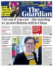 The Guardian (UK) Newspaper Front Page for 5 February 2020