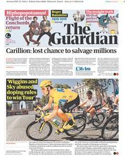 The Guardian (UK) Newspaper Front Page for 5 March 2018