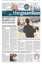The Guardian (UK) Newspaper Front Page for 5 April 2017
