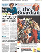 The Guardian (UK) Newspaper Front Page for 5 April 2018