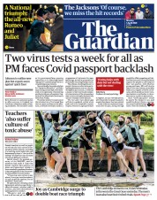 The Guardian () Newspaper Front Page for 5 April 2021