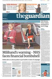 The Guardian (UK) Newspaper Front Page for 5 May 2015