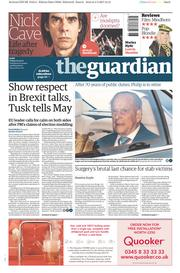 The Guardian (UK) Newspaper Front Page for 5 May 2017