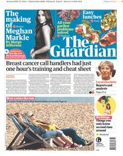 The Guardian (UK) Newspaper Front Page for 5 May 2018