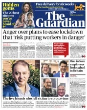 The Guardian (UK) Newspaper Front Page for 5 May 2020
