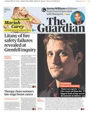 The Guardian (UK) Newspaper Front Page for 5 June 2018