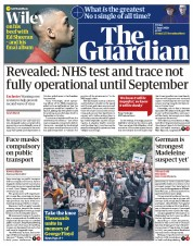 The Guardian (UK) Newspaper Front Page for 5 June 2020