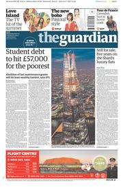 The Guardian (UK) Newspaper Front Page for 5 July 2017