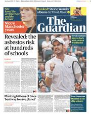 The Guardian (UK) Newspaper Front Page for 5 July 2019