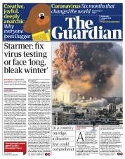 The Guardian front page for 5 August 2020