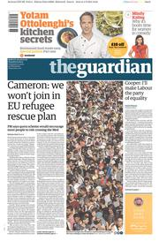 The Guardian (UK) Newspaper Front Page for 5 September 2015