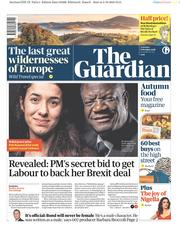 The Guardian (UK) Newspaper Front Page for 6 October 2018
