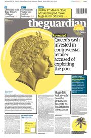 The Guardian (UK) Newspaper Front Page for 6 November 2017
