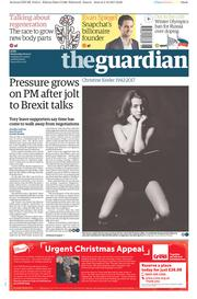 The Guardian (UK) Newspaper Front Page for 6 December 2017
