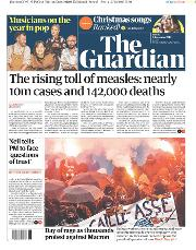 The Guardian (UK) Newspaper Front Page for 6 December 2019