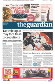 The Guardian (UK) Newspaper Front Page for 6 January 2018