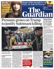 The Guardian (UK) Newspaper Front Page for 6 January 2020