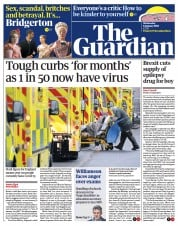 The Guardian front page for 6 January 2021