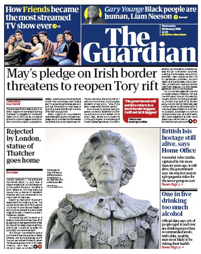 The Guardian Newspaper Front Page (UK) for 6 February 2019