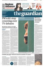 The Guardian (UK) Newspaper Front Page for 6 March 2015